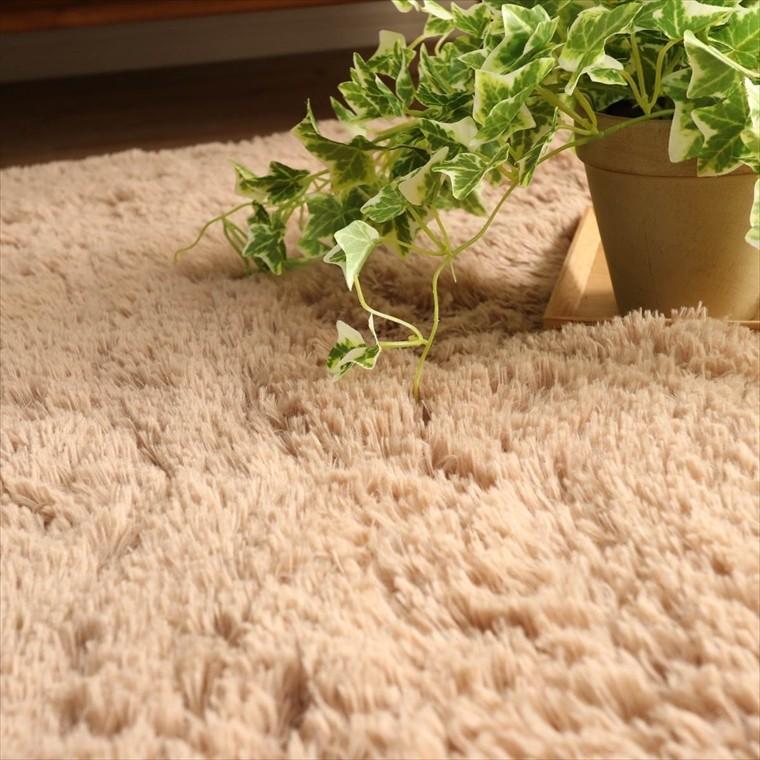 ラグ ラグマット/洗える/130x190cm ロングシャギー /ウレタン入りラグ 極厚/滑り止め 床暖/シフォンプラス/3色|lucentmart-interior|11