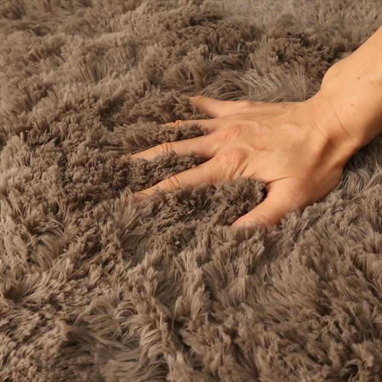 ラグ ラグマット/洗える/130x190cm ロングシャギー /ウレタン入りラグ 極厚/滑り止め 床暖/シフォンプラス/3色|lucentmart-interior|19