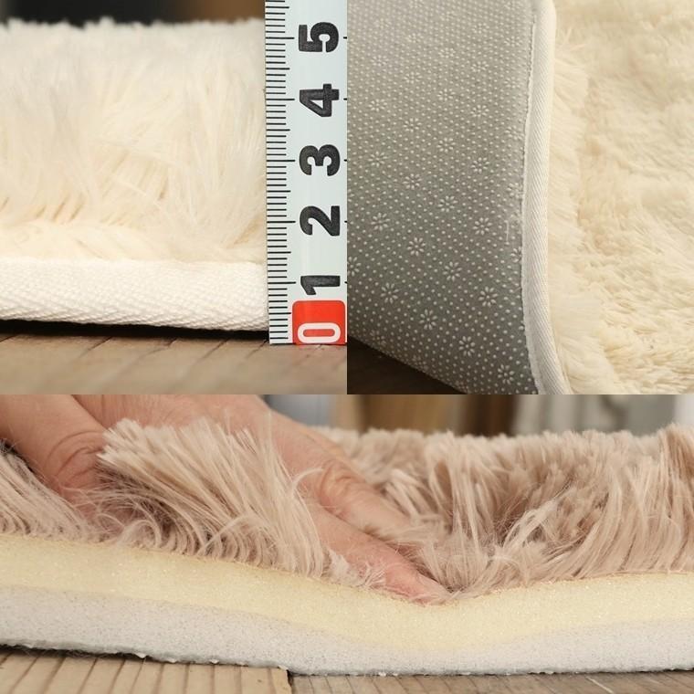 ラグ ラグマット/洗える/130x190cm ロングシャギー /ウレタン入りラグ 極厚/滑り止め 床暖/シフォンプラス/3色|lucentmart-interior|20