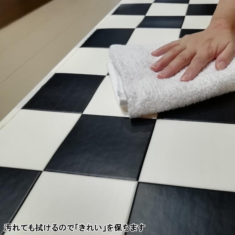 キッチンには拭けるマット/45×120cm/縁付きクッションフロア/チェッカー/日本製/防滑|lucentmart-interior|10