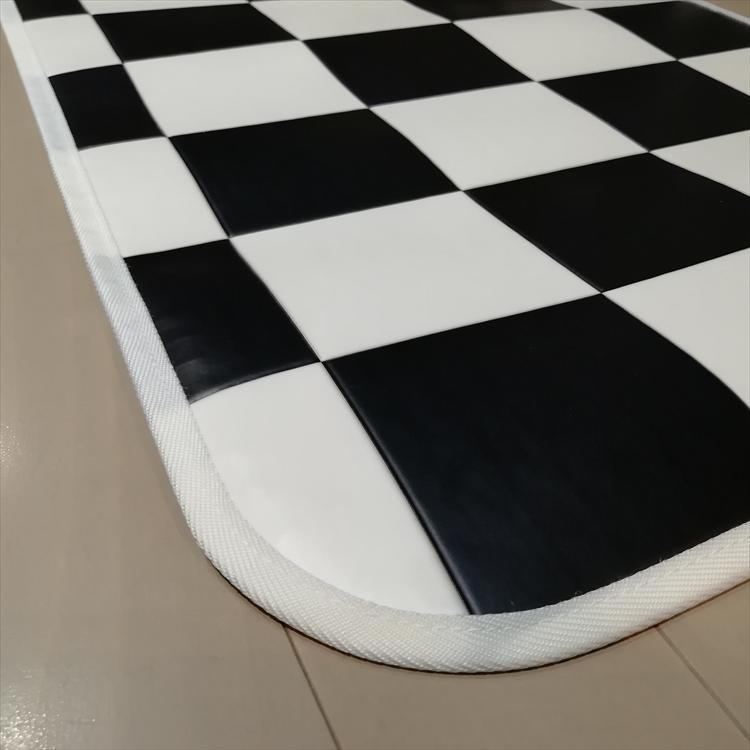 キッチンには拭けるマット/60×120cm/縁付きクッションフロア/チェッカー/日本製/防滑 lucentmart-interior 14