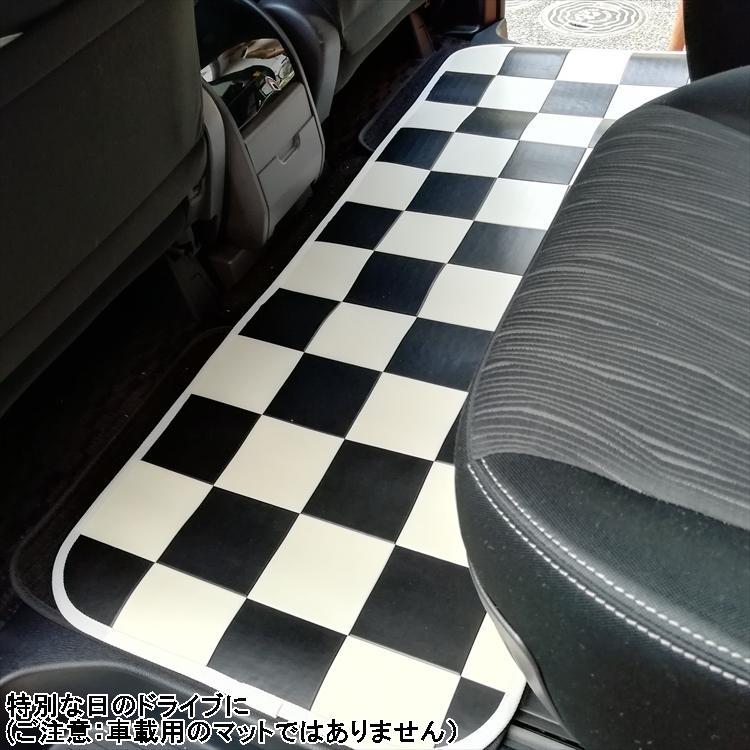 キッチンには拭けるマット/60×120cm/縁付きクッションフロア/チェッカー/日本製/防滑 lucentmart-interior 08