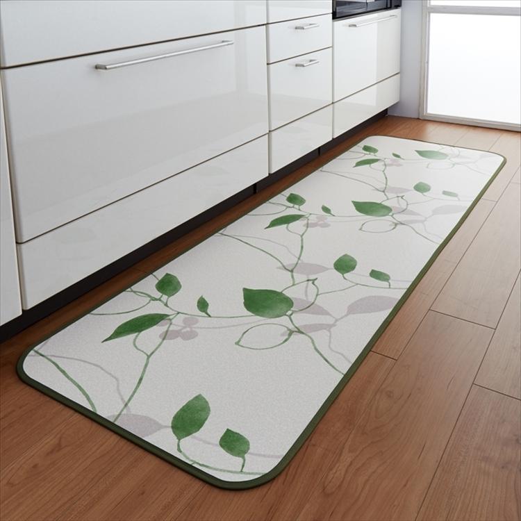 キッチンには拭けるマット/45×270cm/縁付きクッションフロア/リーフ/日本製/防滑|lucentmart-interior|03