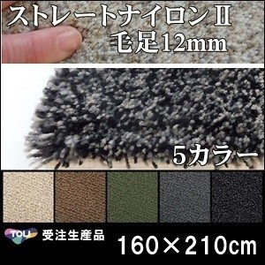 ラグ ラグマット/東リ/ストレートナイロン12mm/160×210cm 長方形 楕円/5色/受注生産