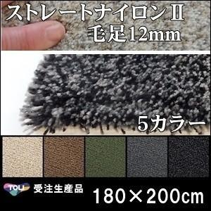 ラグ ラグマット/東リ/ストレートナイロン12mm/180×200cm 長方形 楕円/5色/受注生産