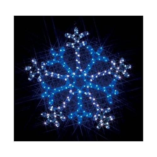 ジェフコム LEDルミネーション 連結タイプ LEDモチーフ 雪の結晶 2色点滅 白×青 SJ-C103WB-N