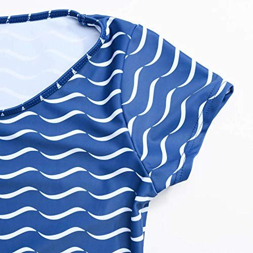 Sandia(サンディア) 水着 ジュニア水着 女の子 キッズ 波カバーアップセット160ブルー