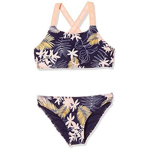 ロキシー BIKINI POINT CROP TOP SET GRGX203024 Swimwear ガールズ BTE6 日本 140 (日