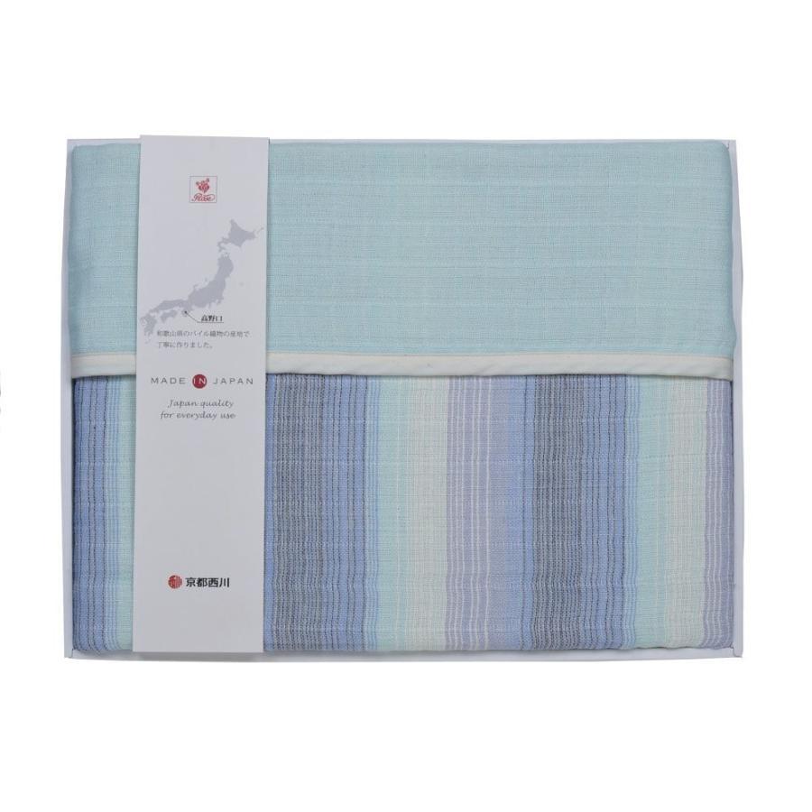 京都西川 ナチュラルケット 日本製 シングル ブルー CSY1080