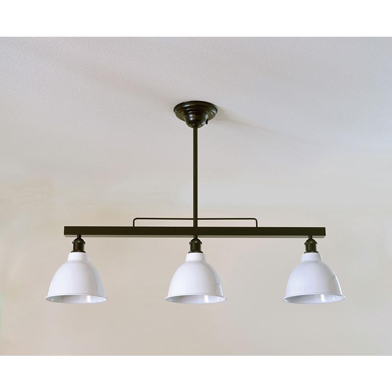 インダストリアルライト スチール製3灯ペンダントライト SSL001BK-138(ランプ別売)|luciva