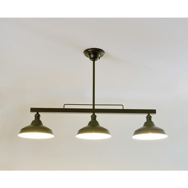 インダストリアルライト スチール製3灯ペンダントライト SSL001BK-2421BK(ランプ別売)|luciva|02
