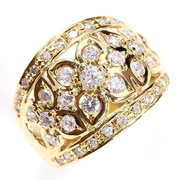 【人気ショップが最安値挑戦!】 ダイヤモンド 1.カラット リング/指輪 K18 上質ダイヤとK18のフラワーデコレーション /白・透明(ホワイト)//届5/, 組み立て家具の殿堂 3d128a21