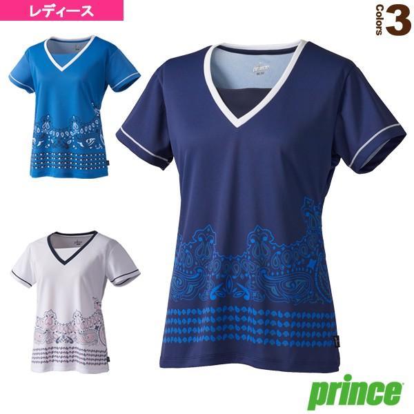 プリンス テニス・バドミントンウェア(レディース) ゲームシャツ/レディース(WL8082)テニスウェア女性用