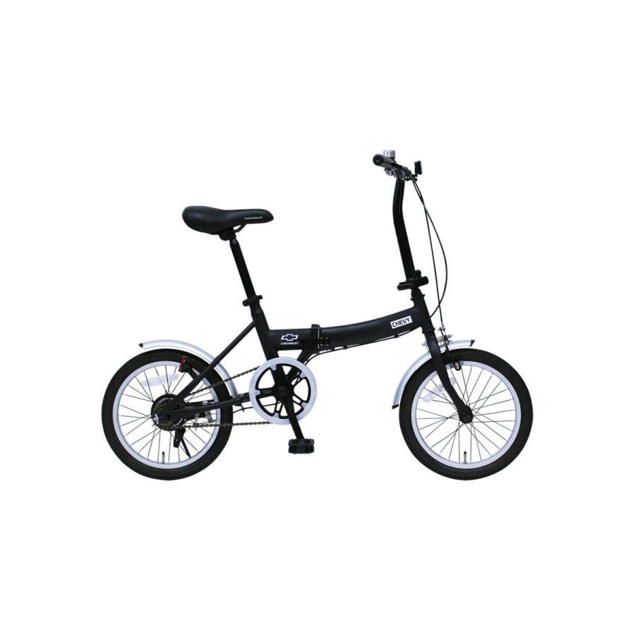 折りたたみ自転車 CHEVROLET シボレー FDB16G ブラック luckykagu 02