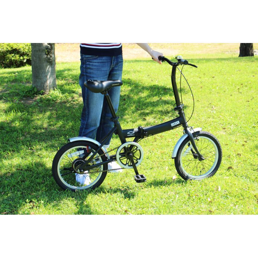 折りたたみ自転車 CHEVROLET シボレー FDB16G ブラック luckykagu 03