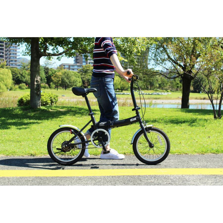 折りたたみ自転車 CHEVROLET シボレー FDB16G ブラック luckykagu 04