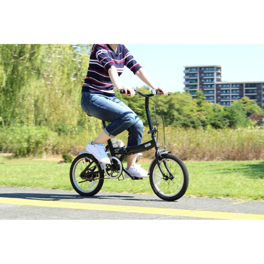 折りたたみ自転車 CHEVROLET シボレー FDB16G ブラック luckykagu 05