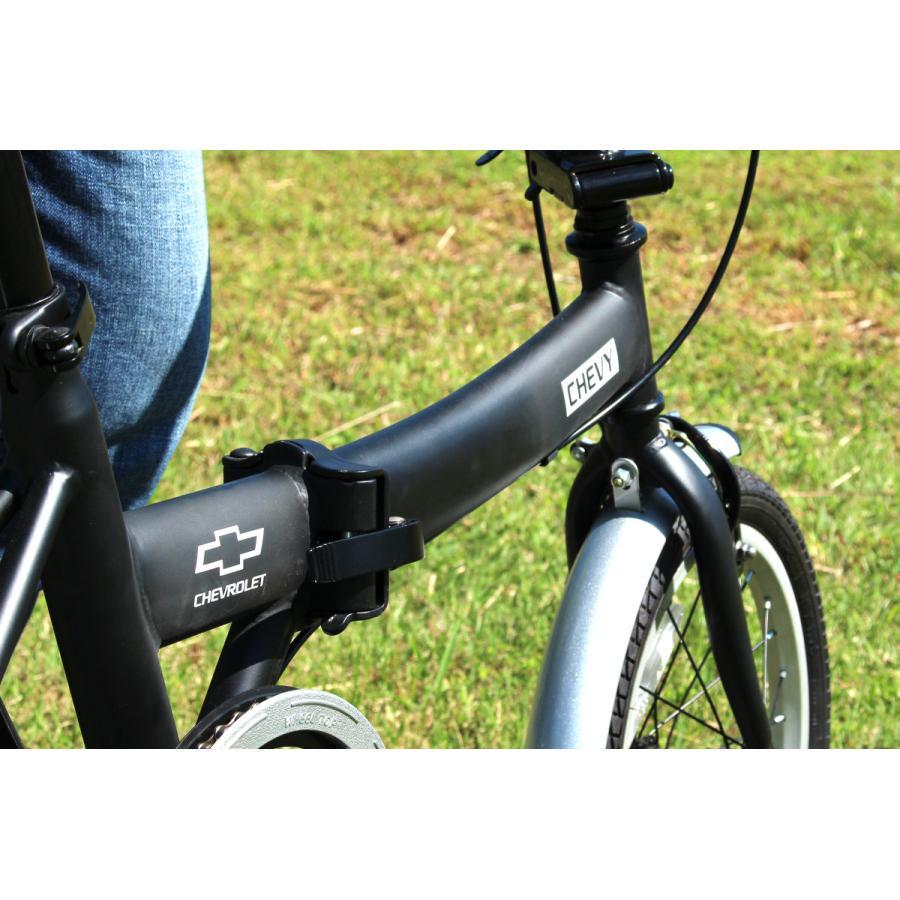 折りたたみ自転車 CHEVROLET シボレー FDB16G ブラック luckykagu 06