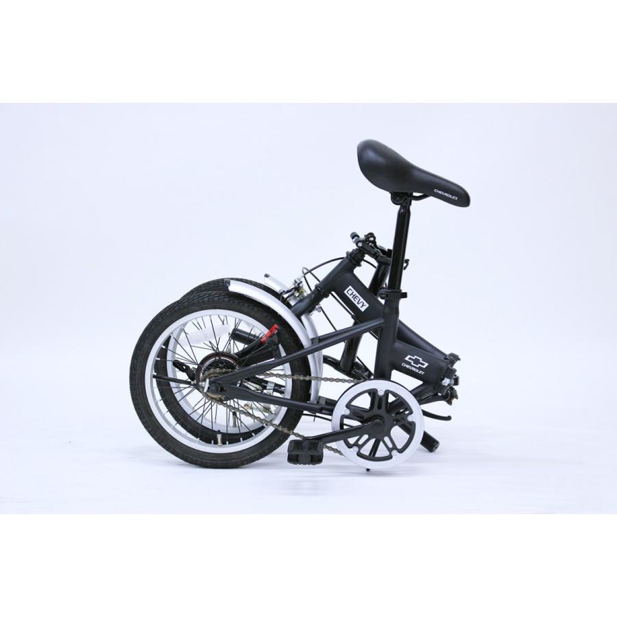 折りたたみ自転車 CHEVROLET シボレー FDB16G ブラック luckykagu 08