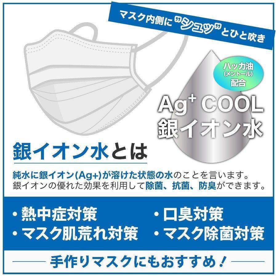 マスクスプレー ECOSAS Ag+ 銀イオン水 100ml×12本組 除菌 抗菌 消臭効果|luckykogei|03