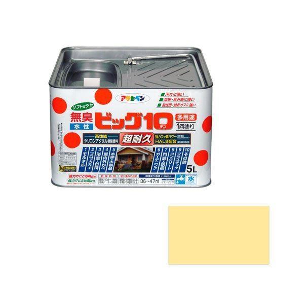 アサヒペン AP 水性ビッグ10多用途 5L 227クリーム色