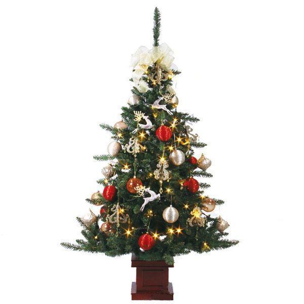 クリスマスツリー 〔ニーズ〕 150cmサイズ 木製ポット付き 『セットツリー』 〔イベント パーティー〕
