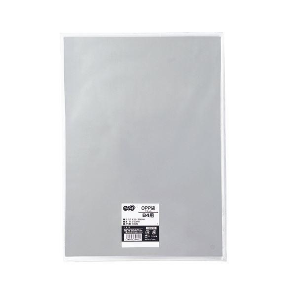 (まとめ) TANOSEE OPP袋 フラット B4用 270×380mm 1パック(100枚) 〔×10セット〕
