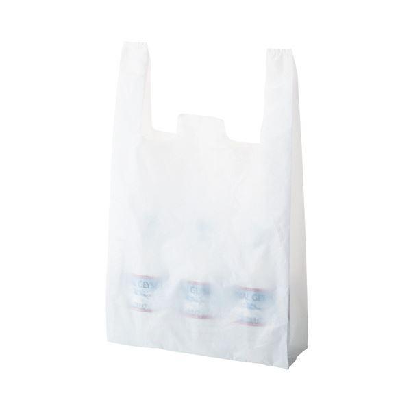 (まとめ) TANOSEE 乳白レジ袋 60号ヨコ350×タテ600×マチ幅150mm 1パック(100枚) 〔×10セット〕