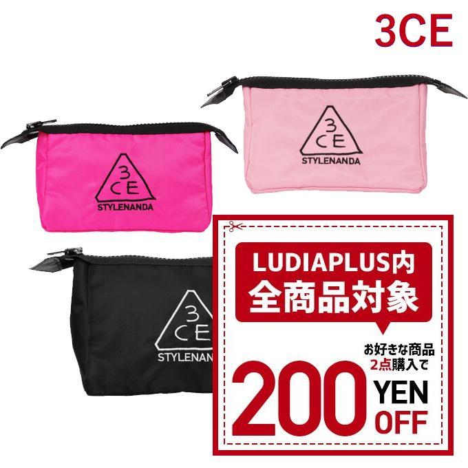 発送日の翌日届く 韓国コスメ ポーチ 3CE POUCH_SMALL 化粧ポーチ ピンク 人気激安 ペンケース 小物入れ smallサイズ 価格 ブラック