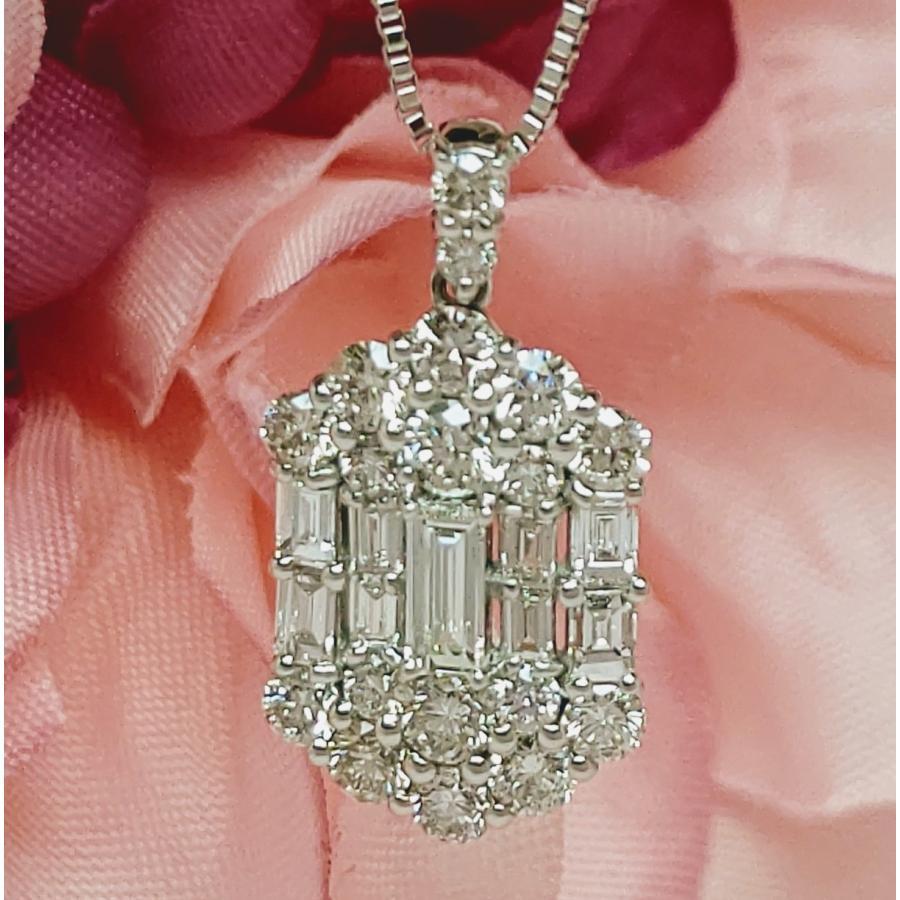 ダイヤモンドプチネックレス プラチナ|lumiere-j