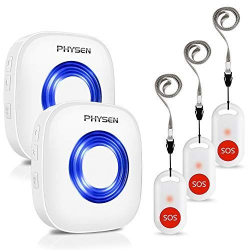 SOS緊急コールセット PHYSEN 呼び出しベル 介護ベル ポケットベル 無線 至高 コール システム 警報 ナースコール 直営限定アウトレット 呼び鈴 医療警報シス