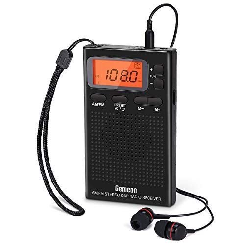 Gemean J-125小型ポータブルラジオ 携帯ラジオ 電池式 AM ワイドFM対応 目覚ま 高感度受信クロックラジオ プリセット機能付き 安い 激安 プチプラ クリアランスsale!期間限定! 高品質