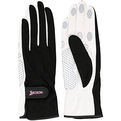 SRIXO|#SRIXON(スリクソン) テニス レディース用 シリコンプリント グローブ (両手セット) SGG2550(ブラック Mサイズ)|lunasea