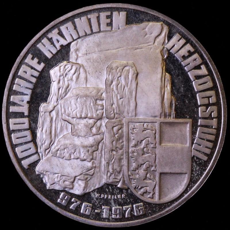 オーストリア 1976年 100シリング プルーフ銀貨 ケルンテン州 1000年記念
