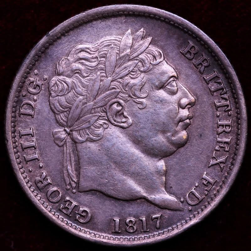 イギリス ジョージ3世 1817年 シリング銀貨