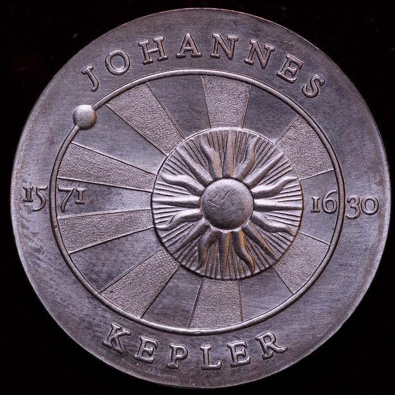 東ドイツ 1971年 ヨハネス・ケプラー 生誕400年 5マルク白銅貨