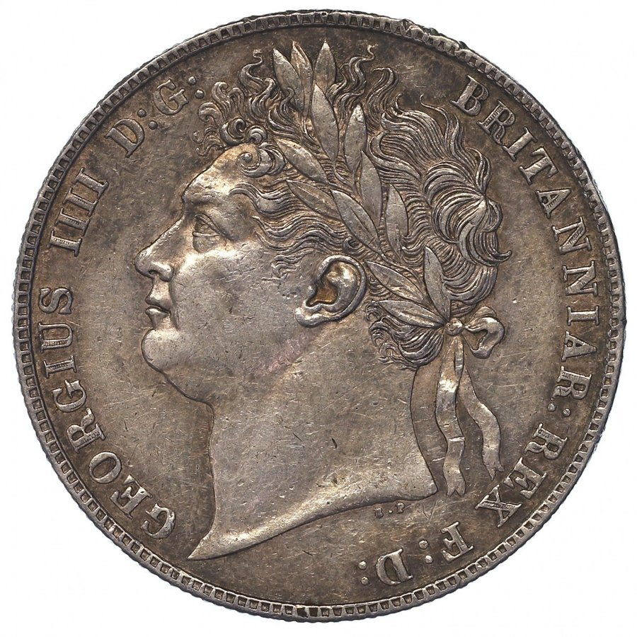 イギリス ジョージ4世 1824年 ハーフクラウン銀貨