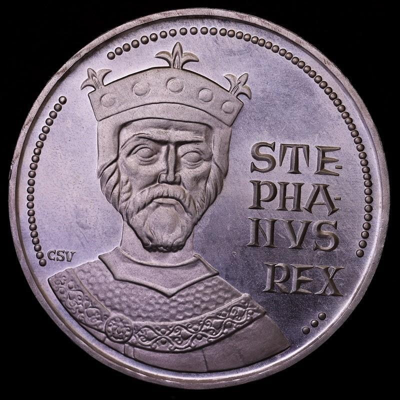 ハンガリー 1972年 100フォリント プルーフ 大型銀貨 初代国王生誕1000周年