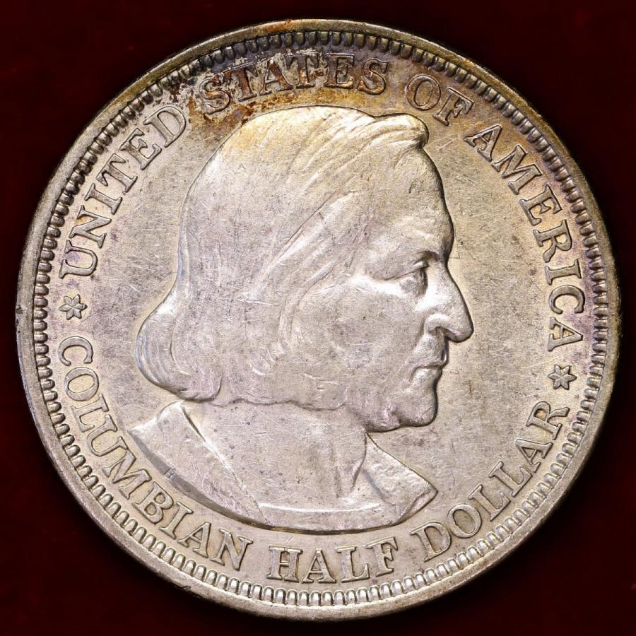 アメリカ 1893年 ハーフダラー 銀貨 コロンビア博覧会