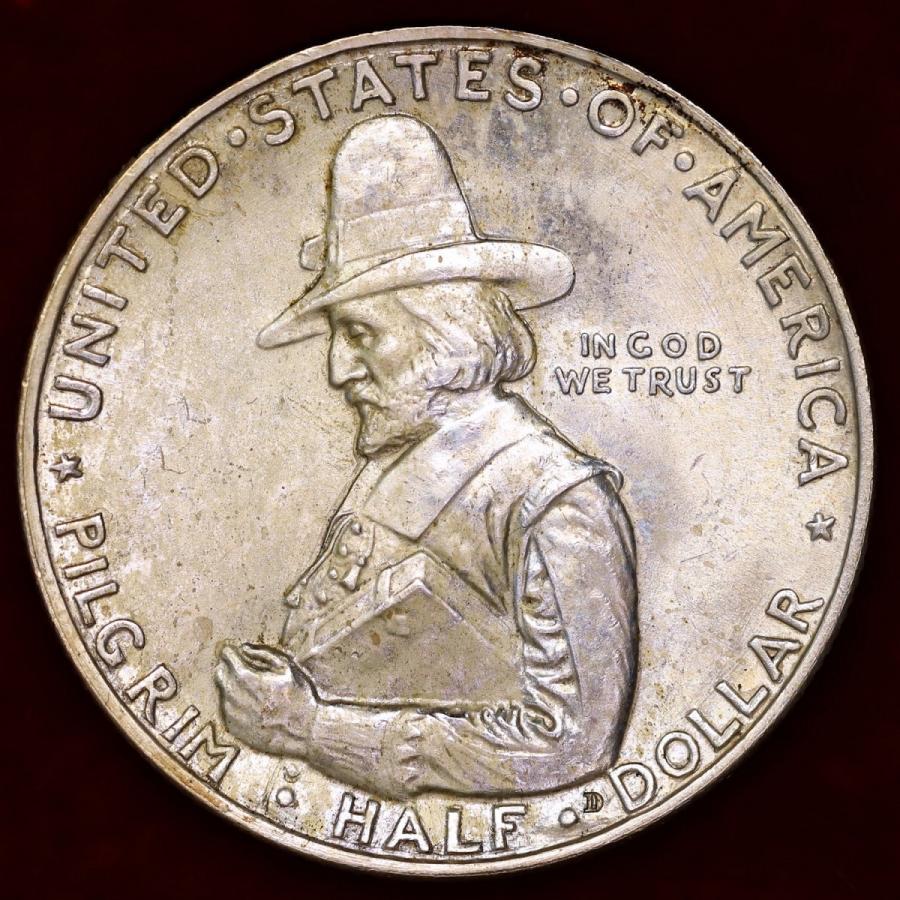 アメリカ 1920年 ハーフダラー ピルグリム300周年記念銀貨