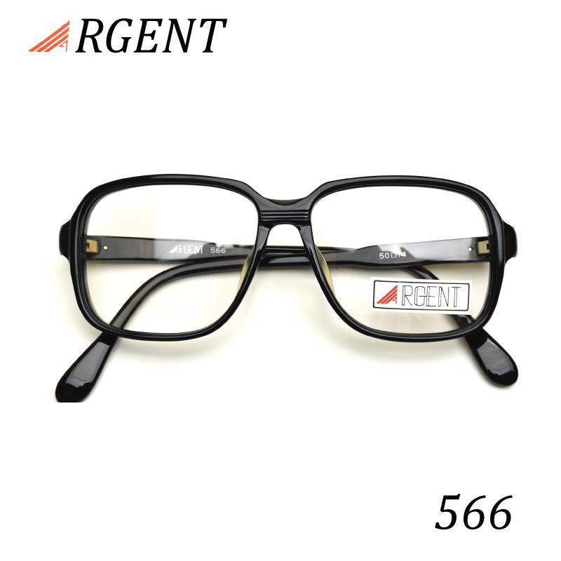ARGENT メガネ 566 ブラック クラシックメガネ 商品 ヴィンテージメガネ 眼鏡 送料無料お手入れ要らず 在庫限り 家用 2021 度付き 布ケース