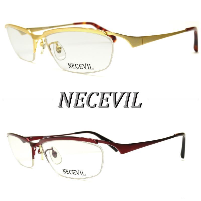 送料無料 NECEVIL ネスビル NV-1005 オープニング 大放出セール メガネ 送料無料カード決済可能 おしゃれ 度付き 2color ナイロール