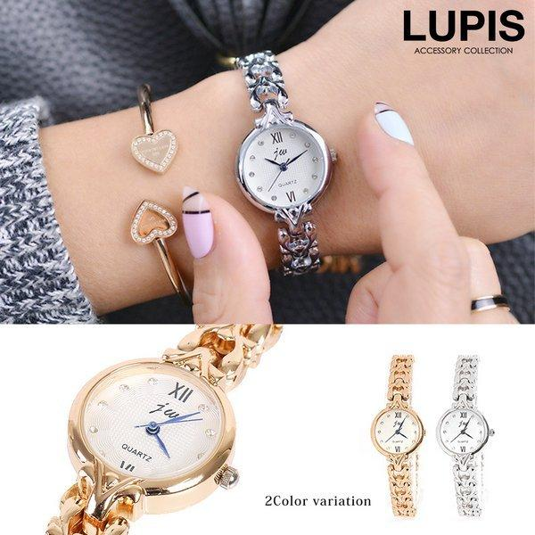 腕時計 レディース 保証 シンプル チェーンベルト シルバー ゴールド 無料サンプルOK 安い 小さめ ルピス