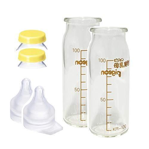 新作製品、世界最高品質人気! 母乳実感 直付け 哺乳瓶100mlセット 一般新生児用 ショップ 2個セット