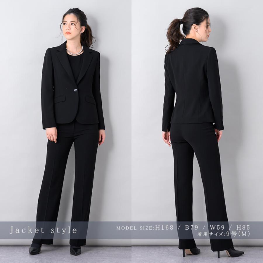 喪服 レディース ブラックフォーマル パンツスーツ 大きいサイズ あすつく S/M/L/LL/3L/4L 2956487 lurco 06