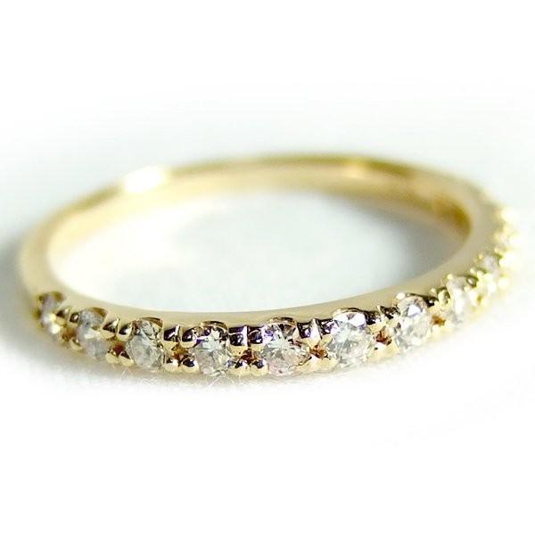 ずっと気になってた ダイヤモンド リング ハーフエタニティ 0.3ct 11号 K18 イエローゴールド ハーフエタニティリング 指輪, 和にゃん 3c9b509c