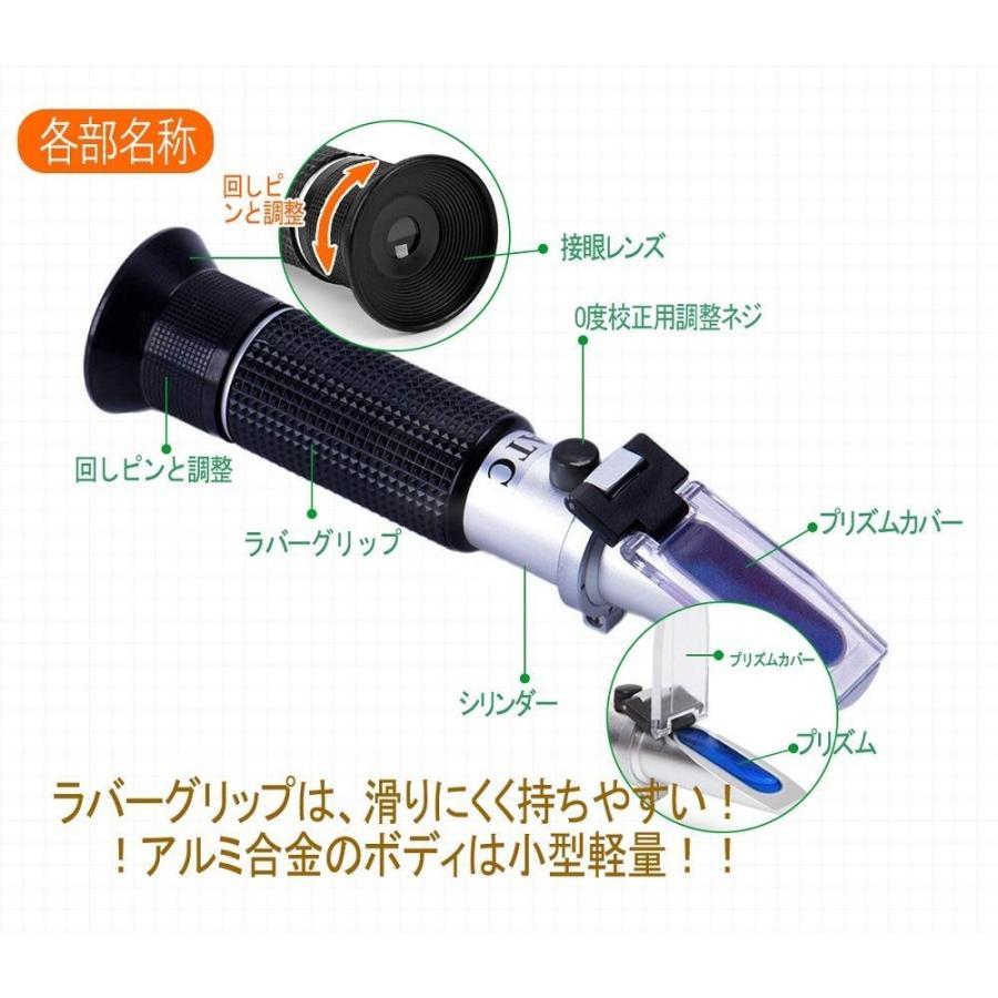 海水塩分濃度計 塩計量器 海水濃度計 屈折式 日本語マニュアル付 ATC 温度自動補正機能 塩分濃度0-100% 海水比重1.000〜1.0 lush-intl 03