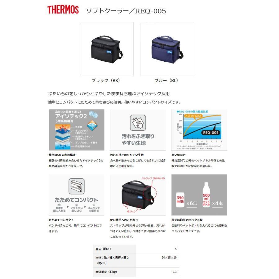 サーモス ソフトクーラー REQ-005 BK ブラック [THERMOS]|lush-life|02