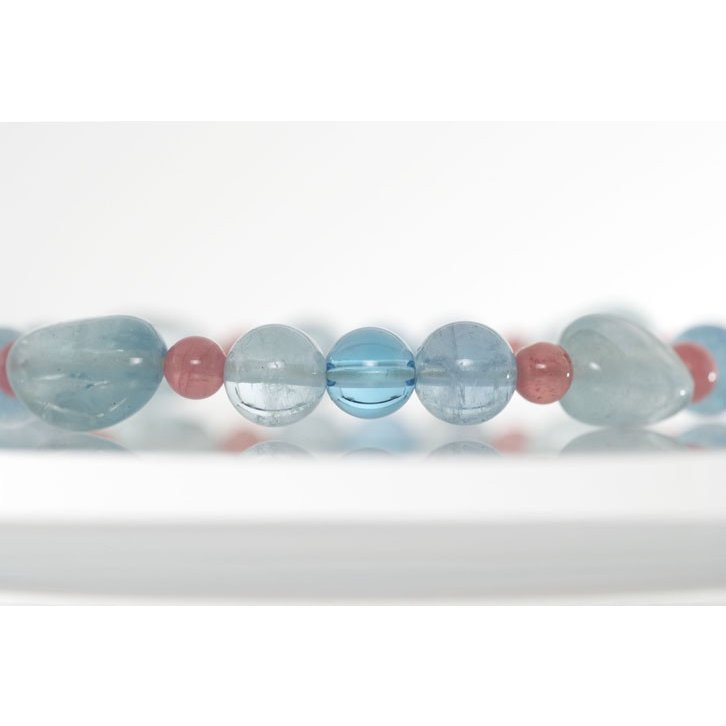 定番 オリジナル デザイン ブレスレット ブルートパーズ インカローズ 水晶カットボタン パワーストーン 天然石, トレンドウォッチ 37f3a044