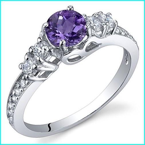 超特価激安 Peora Enchanting 0.50 Carats Amethyst Ring in Sterling Silver Size 6, CAMERON c2804e03